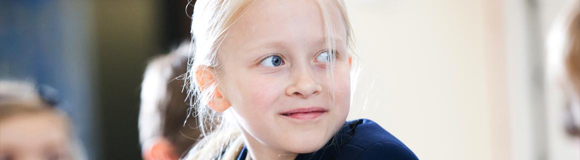 Junior girl looking