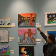Students art exhibited