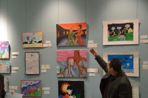 Students art exhibited
