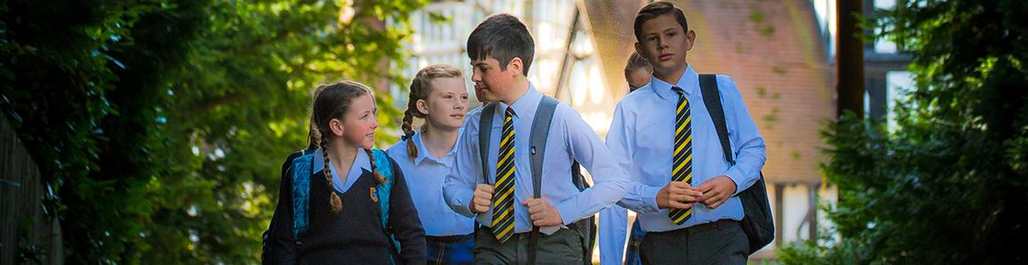 Students outside 1161 300